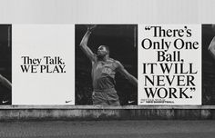 Image result for nike advertising typography billboard