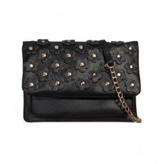 Geanta Annie All Black, Wallet, Chain, Bags, Fashion, Craft, Handbags, Moda, Fashion Styles