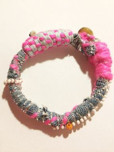 Neon Pink Mechant Grigri bracelet by LouizCez on Etsy, €30.00