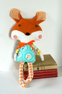 20% off with coupon code HANDMADEHOLIDAY Sweet Woodland Fox Plush Toy Soft Doll by FriendsOfSocktopus, $44.00