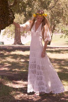 Original Vintage and Vintage Inspired 1970s Bohemian Wedding Dresses By Daughters of Simone | Love My Dress® UK Wedding Blog