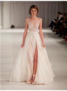Vintage A-line/Princess Scoop Sleeveless Floor-length Formal Dress