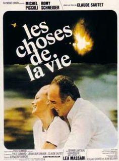 """296.""""Les choses de la vie"""" de Claude Sautet avec Romy Schneider et Michel Piccoli. 1976"""