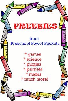 Preschool Powol Packets: FREE