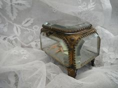 French  Vintage Antique  Jewelery Box  by FrenchCountryLiving