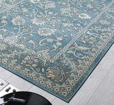 Decks - Vintage Blue Traditional Rugs | Modern Rugs
