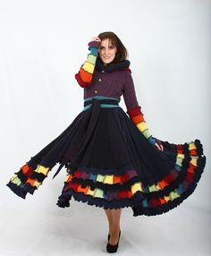 This coat could make winter fun.  Plus Size Coat  RESERVED for Bella  by EnlightenedPlatypus on Etsy, $222.00