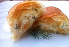 Tyropites with a twist  Phyllo-dough Rolls with Feta Cheese and Peppers Recipe