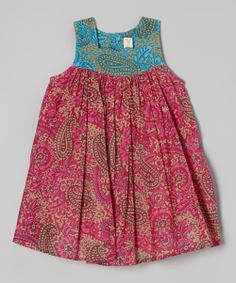 Fuchsia Paisley Babydoll Dress - Toddler & Girls | something special every day