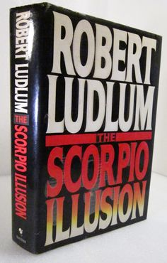 The Scorpio Illusion 1993 Robert Ludlum. Amaya Bajaratte, called the Baj, woman terrorist. Plot to assassinate heads of state simultaneously, supported in the US by an organization called the Scorpios. Tyrell Nathaniel Hawthorne III, ex-Commander US Naval Intelligence, is hired to stop her.