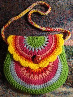 Crochet bag learned on Pinterest