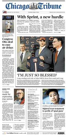 April 27, 2013: New hurdle for Sprint customers - if they used U.S. Cellular, they need to buy a new phone as company switches over. Congress OKs deal to stop air delays. And the newest Chicago Bear and the rest of the NFL draft news.