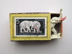 mano's welt: kunstschachteln 255 – 268 The post mano's welt: kunstschachteln 255 – 268 appeared firs Matchbox Crafts, Matchbox Art, Altered Boxes, Altered Art, Elephant Pictures, Creative Box, Found Art, Collages, Assemblage Art