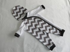 Newborn baby outfit, Going home outfit, Infant, Chevron Outfit, Unisex, Lil Cleo, READY TO SHIP. $48.00, via Etsy.
