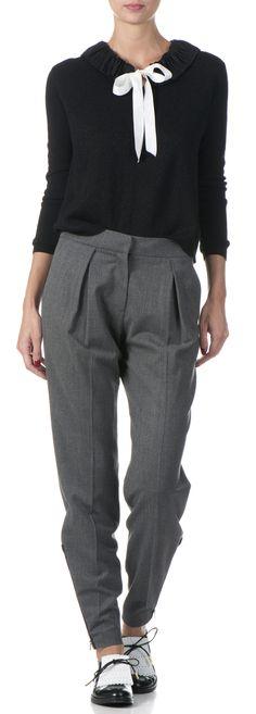 Pantalon carott en laine Gris by CLAUDIE PIERLOT Pantalons Imprimés,  Boutique Femme, Mode Femme fa182619ae8