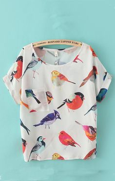 SongBirds Chiffon Blouse- Not crazy at all about the print but the pattern looks easy enough to figure