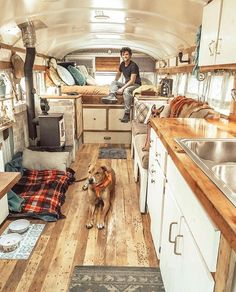 We transformed a 1989 bus into an off-grid, four season home on wheels. It's a Chevy with a tiny wood stove for heat, 80 gallons of fresh water st Bus Living, Tiny House Living, Tiny Wood Stove, School Bus Tiny House, Kombi Home, School Bus Conversion, Casas Containers, Van Home, Bus Life