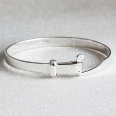 Sterling Silver Loop Clasp Bangle by valarie