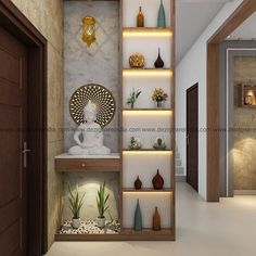 Wall Divider Entryway Decor Living Room Partition Design Pertaining To Room Interior Living Room Partition Design, Living Room Divider, Pooja Room Door Design, Room Partition Designs, Home Room Design, Home Interior Design, Living Room Decor, Partition Ideas, Wood Partition