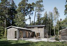 Villa Jakobsson, Gnisvärd – M. Sauna House, Tiny House Cabin, My House, Cabin Fireplace, Long House, Best Barns, Pallet House, Modern Ranch, Wood Architecture