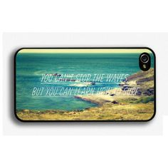 You cant stop the waves iPhone 5 Case Cover