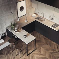 35 Amazing Small Apartment Kitchen Ideas When doing a small kitchen design for an apartment, either a corridor kitchen design or a line layout design will […] Small Apartment Kitchen, Home Decor Kitchen, Interior Design Kitchen, Home Kitchens, Small Apartment Design, Apartment Layout, Kitchen Themes, Kitchen Layout, Small Space Interior Design