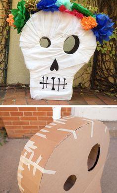 DIY Skull Pinata | Click for 28 DIY Halloween Party Ideas for Kids