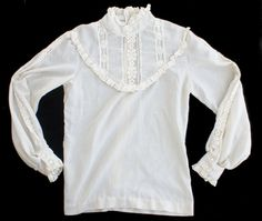 Vintage 70s Victorian Style Lace Shirt by SycamoreVintage on Etsy, $34.99