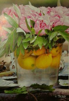 Centro tavola primaverile. Peonie e limoni!! Peonie, Glass Vase, Plants, Home Decor, Sicilian, Decoration Home, Room Decor, Plant, Home Interior Design