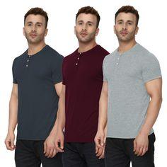 d041176de Chkokko presents combo of henley neck t-shirts for Men.  tshirtscombo   tshirtsonline