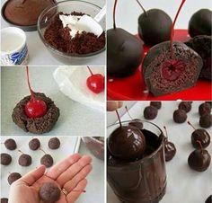 Chocolate y cerezas.