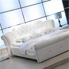 Buy Bed, High Quality Leather Bed, White And Other Bedroom Furniture Sets at Nofran Furnitures Small Living Room Furniture, Modern Bedroom Furniture, Contemporary Bedroom, Bed Furniture, Furniture Styles, Furniture Design, Furniture Online, Furniture Companies, Furniture Buyers