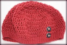 Raspberry Crochet slouchy hat by MadeForYouCrafts on Etsy, $15.00