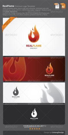 Fire Logo — Vector EPS #red #simple logo • Available here → https://graphicriver.net/item/fire-logo/7010028?ref=pxcr