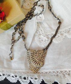 Stunning Art Nouveau Art Deco Necklace by WishAnWearJewelry
