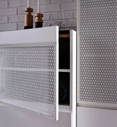 Good ventilated storage- However I dislike this aesthetic finish Joinery, Dressing Room, Shelving, Cabinets, Kindergarten, Furniture Design, Objects, Lounge, Home Appliances