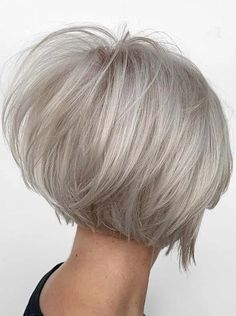 Fantastic Stacked Bob Haircuts for Women in Year 2020 Curly Stacked Bobs, Short Stacked Bob Haircuts, Stacked Bob Hairstyles, Short Hair Cuts, Bob Haircuts 2017, Best Bob Haircuts, Bob Haircuts For Women, Bob Cut Styles, Modern Bob Hairstyles
