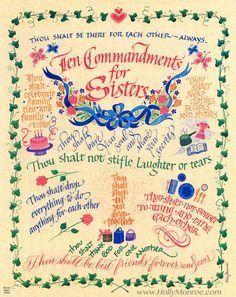 Ten Commandments  Calligraphy    Ten Commandments