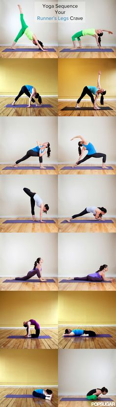 Show your running legs some love with this yoga sequence, part of our 31 Days of Fitness. It's designed to strengthen the quads, hamstrings, and glutes for all