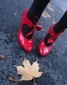 The A to Z of Shoe Shopping: P is for Minna Parikka - a true classic, love the hearts! - Minna Parikka #shoes #Finnishdesign