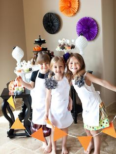 Add eggplant to traditional Halloween hues like orange and black. (http://www.hgtv.com/entertaining/throw-a-halloween-cupcake-decorating-party/pictures/index.html?soc=Pinterest)