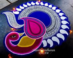 Rangoli Designs Peacock, Best Rangoli Design, Rangoli Designs Latest, Latest Rangoli, Free Hand Rangoli Design, Small Rangoli Design, Rangoli Patterns, Colorful Rangoli Designs, Rangoli Ideas