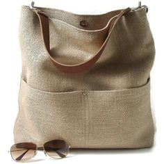 Independent Reign Bucket Tote In Woven Jute And Leather | Bluefly.Com ($168) ❤ liked on Polyvore featuring bags, handbags, tote bags, brown tote, leather tote bags, brown leather handbags, heavy duty totes and leather man bags