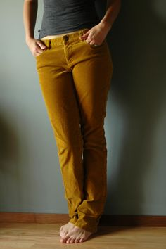 Simple DIY alteration: straight to skinnies.