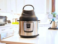 Instant Pot's new Air Fry Lid adds another dimension to the popular pressure cooker - CNET Super Mario Party, Instant Pot, Making Jerky, Pots, Dry Snacks, Crispy Chicken Wings, Hasselback Potatoes, Mozzarella Sticks, Banana Chips