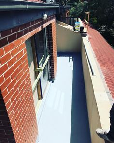 A freshly primed balcony with 2 coats of Durotech WBE Hibuild epoxy primer. This product can be used as a primer and or hydrostatic moisture barrier for waterproofing membranes and coatings. A great way to make your next job bullet proof.  #40years #Australianmade #solution #driven #waterproofing