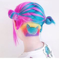 Women's Hairstyles : Picture Description 18 Awesome Ideas with an Undercut for Daring Women ★ Cute Colorful Undercut Ideas with Hair Tattoos Picture 2 ★ Undercut Hairstyles Women, Pretty Hairstyles, Undercut Women, Pelo Multicolor, Color Fantasia, Pelo Vintage, Hair Illustration, Coloured Hair, Cool Hair Color