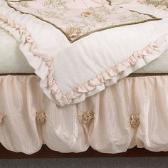 Cotton Tale 3-pc. Lollipops and Roses Crib Bedding Set...i don't care for the cherubs, but the rest is pretty