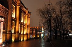 A 19th century factory turned into shopping centre.  Manufaktura in the city of Lodz (Poland).