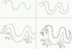Draw a Dragon | Art class ideas